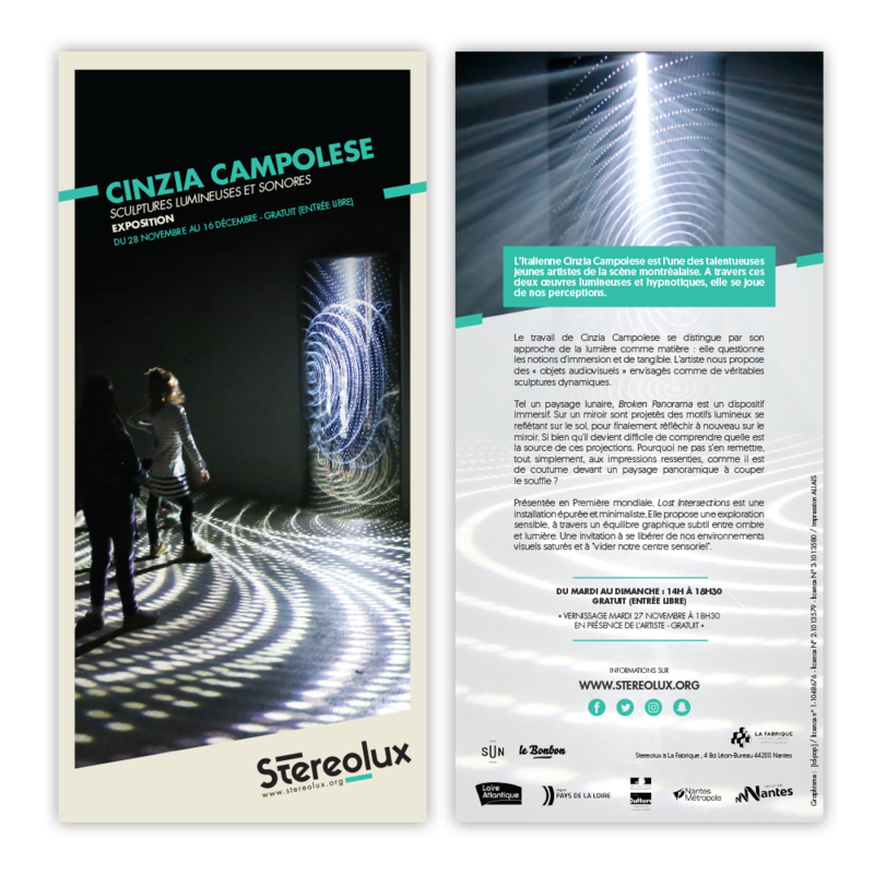 Stereolux Cinzia Campolese | Flyer Image 1