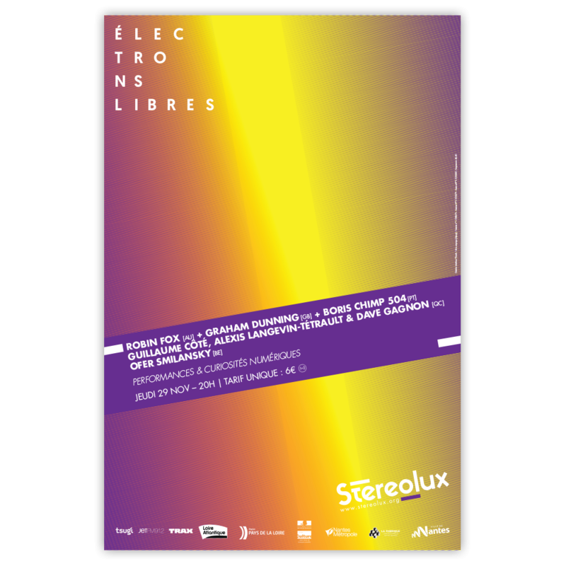 Stereolux Electrons libres 2018 - affiche Image 1