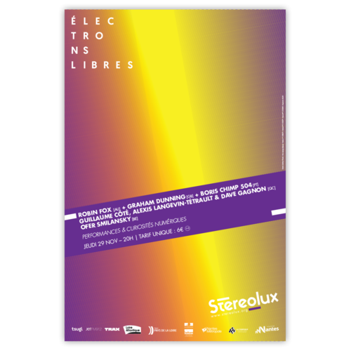 Stereolux Electrons libres 2018 - affiche